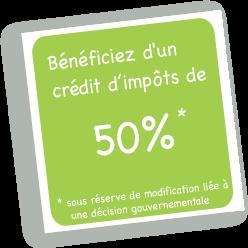 Bénéficiez d'un crédit d'impots de 50% lorsque vous faites appel à une aide à domicile à Colmar et en région Alsace
