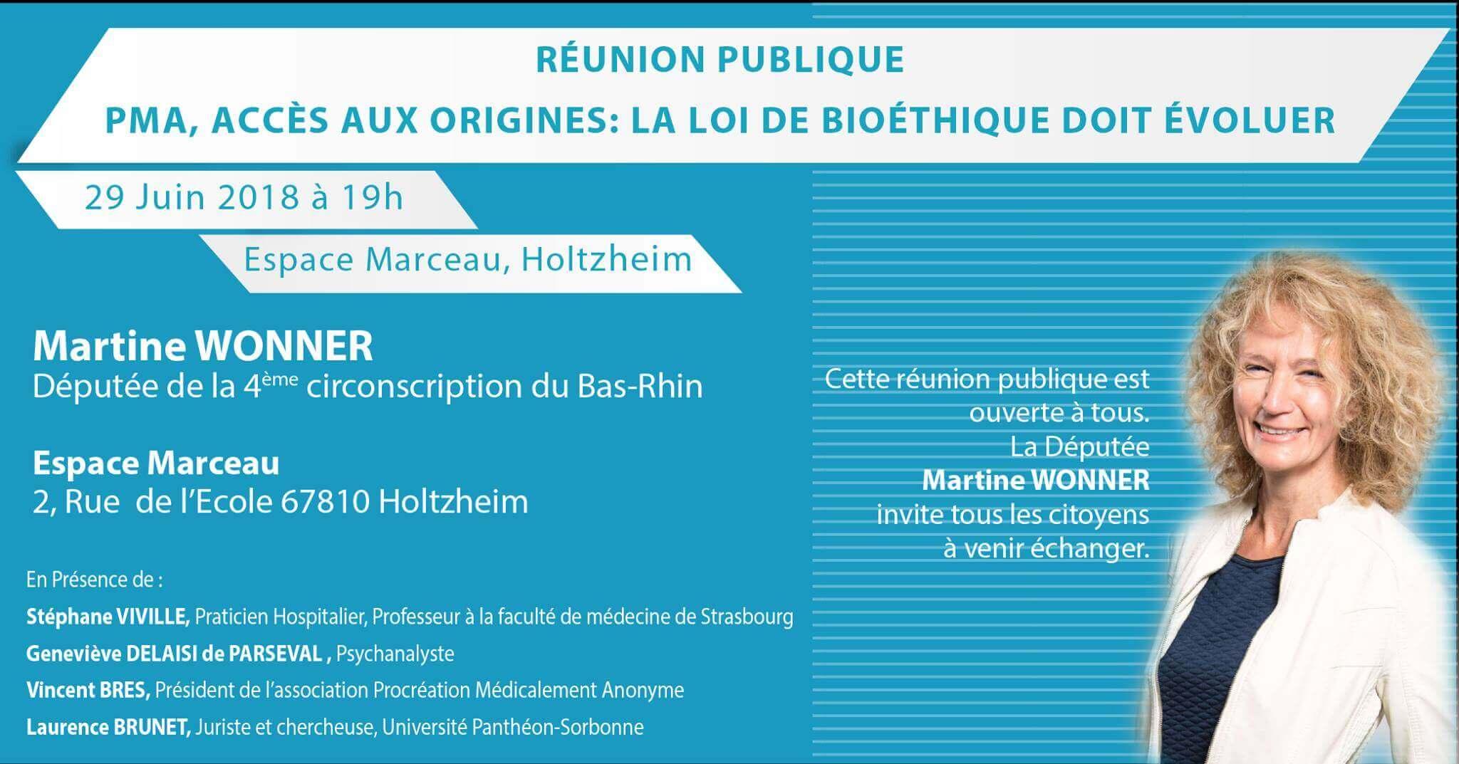 Martine WONNER - Réunion publique du 29 juin 2018